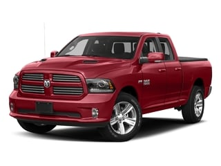 Flame Red Clearcoat 2017 Ram Truck 1500 Pictures 1500 Night 4x2 Quad Cab 6'4 Box photos front view