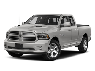 Bright Silver Metallic Clearcoat 2017 Ram Truck 1500 Pictures 1500 Night 4x2 Quad Cab 6'4 Box photos front view