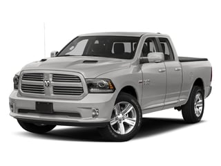 Bright Silver Metallic Clearcoat 2017 Ram Truck 1500 Pictures 1500 Night 4x4 Quad Cab 6'4 Box photos front view
