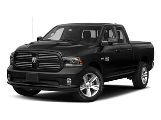 Brilliant Black Crystal Pearlcoat 2017 Ram Truck 1500 Pictures 1500 Night 4x2 Quad Cab 6'4 Box photos front view