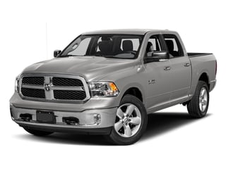 Bright Silver Metallic Clearcoat 2017 Ram Truck 1500 Pictures 1500 Big Horn 4x2 Crew Cab 6'4 Box photos front view