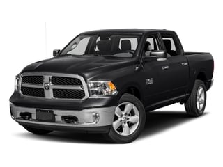 Black Clearcoat 2017 Ram Truck 1500 Pictures 1500 Big Horn 4x2 Crew Cab 6'4 Box photos front view