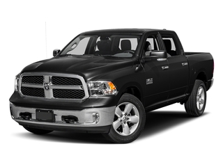 Brilliant Black Crystal Pearlcoat 2017 Ram Truck 1500 Pictures 1500 Big Horn 4x2 Crew Cab 6'4 Box photos front view