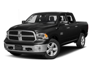 Brilliant Black Crystal Pearlcoat 2017 Ram Truck 1500 Pictures 1500 Lone Star Silver 4x2 Crew Cab 5'7 Box photos front view
