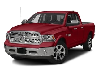 Flame Red Clearcoat 2017 Ram Truck 1500 Pictures 1500 Laramie 4x4 Quad Cab 6'4 Box photos front view