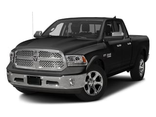 Brilliant Black Crystal Pearlcoat 2017 Ram Truck 1500 Pictures 1500 Laramie 4x4 Quad Cab 6'4 Box photos front view