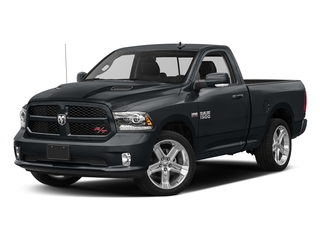 Maximum Steel Metallic Clearcoat 2017 Ram Truck 1500 Pictures 1500 Night 4x2 Regular Cab 6'4 Box photos front view