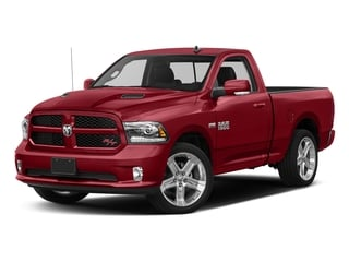 Flame Red Clearcoat 2017 Ram Truck 1500 Pictures 1500 Night 4x4 Regular Cab 6'4 Box photos front view