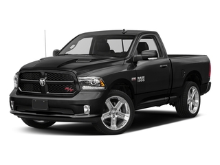 Brilliant Black Crystal Pearlcoat 2017 Ram Truck 1500 Pictures 1500 Night 4x2 Regular Cab 6'4 Box photos front view