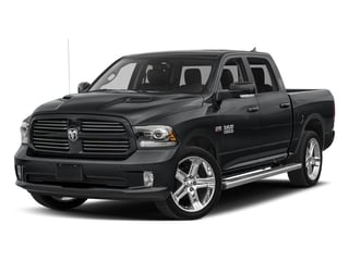 Granite Crystal Metallic Clearcoat 2017 Ram Truck 1500 Pictures 1500 Night 4x4 Crew Cab 5'7 Box photos front view