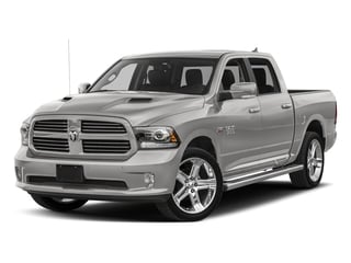 Bright Silver Metallic Clearcoat 2017 Ram Truck 1500 Pictures 1500 Night 4x4 Crew Cab 5'7 Box photos front view