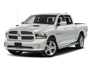 Bright White Clearcoat 2017 Ram Truck 1500 Pictures 1500 Crew Cab Sport 4WD photos front view