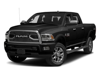 Brilliant Black Crystal Pearlcoat 2017 Ram Truck 2500 Pictures 2500 Laramie Longhorn 4x2 Crew Cab 8' Box photos front view