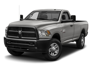 Bright Silver Metallic Clearcoat 2017 Ram Truck 3500 Pictures 3500 SLT 4x4 Reg Cab 8' Box photos front view