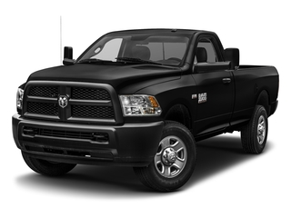 Brilliant Black Crystal Pearlcoat 2017 Ram Truck 3500 Pictures 3500 SLT 4x4 Reg Cab 8' Box photos front view
