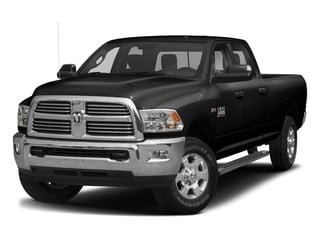 Brilliant Black Crystal Pearlcoat 2017 Ram Truck 3500 Pictures 3500 Big Horn 4x2 Crew Cab 6'4 Box photos front view