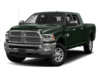 Black Forest Green Pearlcoat 2017 Ram Truck 3500 Pictures 3500 Laramie Longhorn 4x2 Mega Cab 6'4 Box photos front view