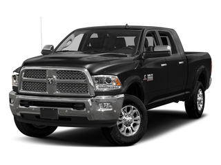 Brilliant Black Crystal Pearlcoat 2017 Ram Truck 3500 Pictures 3500 Mega Cab Longhorn 4WD photos front view