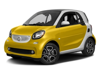 Black-to-Yellow Metallic 2017 smart fortwo Pictures fortwo Coupe 2D Proxy I3 Turbo photos front view