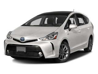 Super White 2017 Toyota Prius v Pictures Prius v Liftback 5D v Five I4 Hybrid photos front view