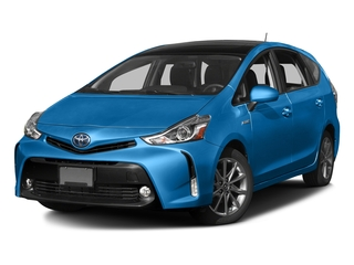 Galactic Aqua Metallic 2017 Toyota Prius v Pictures Prius v Liftback 5D v Five I4 Hybrid photos front view