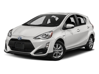 Super White 2017 Toyota Prius c Pictures Prius c Liftback 5D c Four I4 Hybrid photos front view