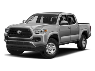 Silver Sky Metallic 2017 Toyota Tacoma Pictures Tacoma SR Crew Cab 4WD V6 photos front view