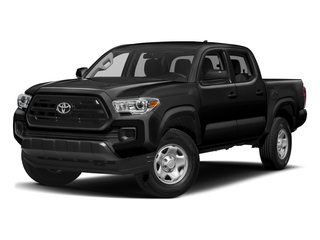 Black 2017 Toyota Tacoma Pictures Tacoma SR Crew Cab 4WD V6 photos front view