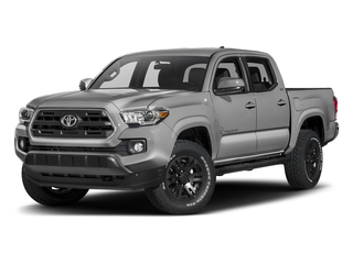 Silver Sky Metallic 2017 Toyota Tacoma Pictures Tacoma SR5 Crew Cab 2WD V6 photos front view