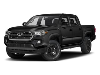 Black 2017 Toyota Tacoma Pictures Tacoma SR5 Crew Cab 2WD V6 photos front view