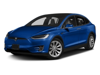 Deep Blue Metallic 2017 Tesla Motors Model X Pictures Model X Utility 4D 100 kWh AWD Electric photos front view