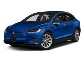 Deep Blue Metallic 2017 Tesla Motors Model X Pictures Model X Utility 4D 90 kWh AWD Electric photos front view