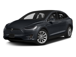 Midnight Silver Metallic 2017 Tesla Motors Model X Pictures Model X Utility 4D 100 kWh AWD Electric photos front view