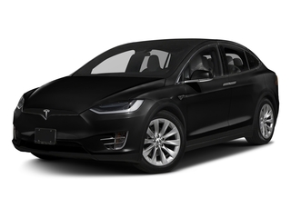 Obsidian Black Metallic 2017 Tesla Motors Model X Pictures Model X Utility 4D 100 kWh AWD Electric photos front view