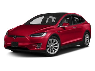 Red Multi-Coat 2017 Tesla Motors Model X Pictures Model X Utility 4D 90 kWh AWD Electric photos front view