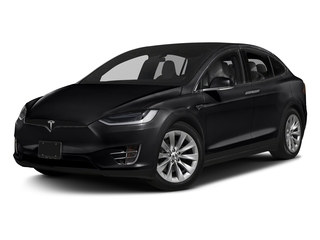 Solid Black 2017 Tesla Motors Model X Pictures Model X Utility 4D 90 kWh AWD Electric photos front view
