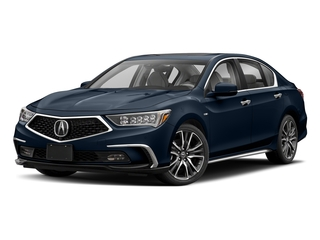 Fathom Blue Pearl 2018 Acura RLX Pictures RLX Sedan 4D Sport AWD Hybrid photos front view