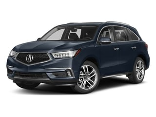 Fathom Blue Pearl 2018 Acura MDX Pictures MDX Utility 4D Advance AWD photos front view