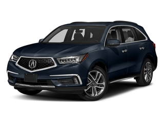 Fathom Blue Pearl 2018 Acura MDX Pictures MDX FWD w/Advance Pkg photos front view