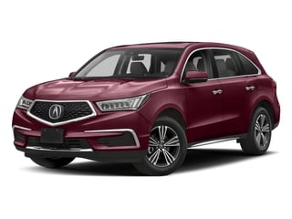 Basque Red Pearl II 2018 Acura MDX Pictures MDX Utility 4D AWD photos front view