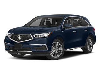 Fathom Blue Pearl 2018 Acura MDX Pictures MDX Utility 4D Technology AWD Hybrid photos front view