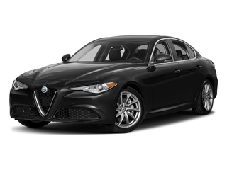 Vulcano Black Metallic 2018 Alfa Romeo Giulia Pictures Giulia Ti AWD photos front view