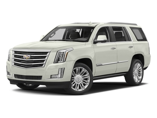 Crystal White Tricoat 2018 Cadillac Escalade Pictures Escalade Utility 4D Platinum 4WD V8 photos front view