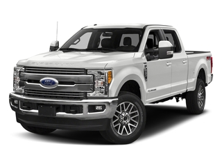 Oxford White 2018 Ford Super Duty F-350 SRW Pictures Super Duty F-350 SRW LARIAT 4WD Crew Cab 8' Box photos front view