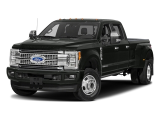 Magnetic Metallic 2018 Ford Super Duty F-350 DRW Pictures Super Duty F-350 DRW Platinum 4WD Crew Cab 8' Box photos front view
