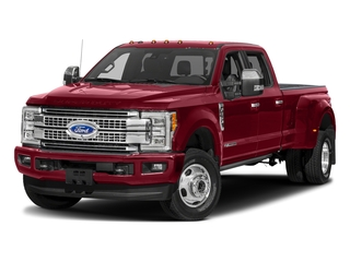 Ruby Red Metallic Tinted Clearcoat 2018 Ford Super Duty F-350 DRW Pictures Super Duty F-350 DRW Platinum 4WD Crew Cab 8' Box photos front view