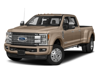 White Gold Metallic 2018 Ford Super Duty F-450 DRW Pictures Super Duty F-450 DRW Platinum 2WD Crew Cab 8' Box photos front view
