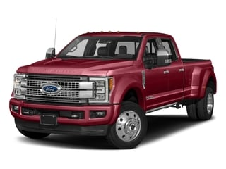 Ruby Red Metallic Tinted Clearcoat 2018 Ford Super Duty F-450 DRW Pictures Super Duty F-450 DRW Platinum 2WD Crew Cab 8' Box photos front view