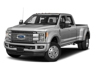 Ingot Silver Metallic 2018 Ford Super Duty F-450 DRW Pictures Super Duty F-450 DRW Platinum 2WD Crew Cab 8' Box photos front view