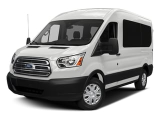 Oxford White 2018 Ford Transit Passenger Wagon Pictures Transit Passenger Wagon Passenger Van XL Medium Roof photos front view